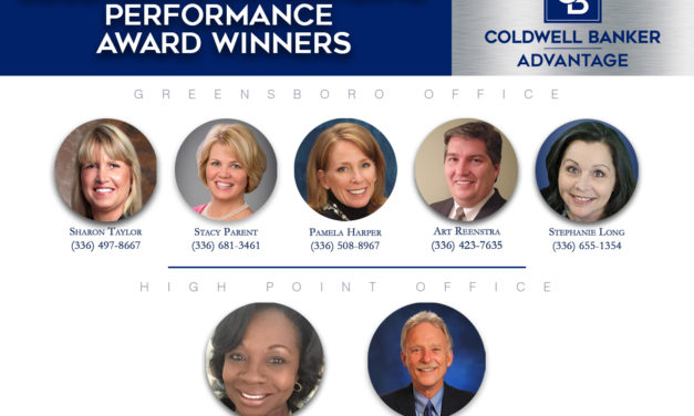 Coldwell Banker Advantage Triad AnnouncesDecember's Outstanding Performance Award Winners